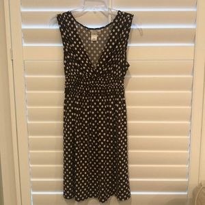 Sophie Max Brown and Cream polka dot dress